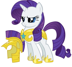 Size: 2133x2000   Tagged: safe, artist:spaceponies, rarity, pony, unicorn, armor, armorarity, female, helmet, high res, hilarious in hindsight, hoof shoes, mare, royal guard armor, royal guard rarity, simple background, solo, transparent background, vector