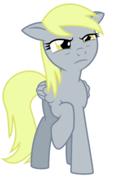 Size: 2000x3000 | Tagged: safe, artist:the smiling pony, derpy hooves, pegasus, pony, angry, female, high res, inkscape, looking at you, mare, paint.net, raised hoof, simple background, solo, squint, stare, suspicious, transparent background, vector, worried