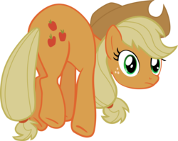 Size: 3143x2500   Tagged: safe, artist:the smiling pony, applejack, earth pony, pony, bridle gossip, applejack's hat, cowboy hat, female, hat, high res, inkscape, looking at you, mare, simple background, solo, transparent background, vector
