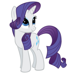 Size: 2500x2500 | Tagged: safe, artist:the smiling pony, rarity, pony, unicorn, female, high res, inkscape, looking up, mare, simple background, smiling, solo, transparent background, vector