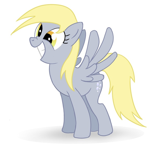 Size: 1400x1462 | Tagged: artist:lhconceptpony, cute, dead source, derpy hooves, happy, nose wrinkle, pegasus, pony, safe, simple background, smiling, solo, spread wings, wings