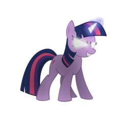 Size: 1512x1454 | Tagged: safe, artist:the smiling pony, twilight sparkle, pony, unicorn, 8, evil grin, female, first twilight sparkle image, get, glowing eyes, glowing horn, grin, gritted teeth, hilarious in hindsight, inkscape, levitation, magic, mare, simple background, smiling, smirk, solo, svg, teeth, telekinesis, transparent background, vector