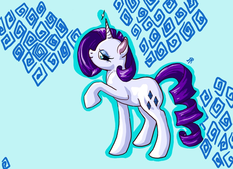 Size: 3504x2548 | Tagged: artist:rabidpeach, pony, profile, rarity, safe, smiling, solo, unicorn