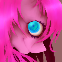 Size: 1000x1000 | Tagged: safe, artist:misspinkamena, pinkie pie, earth pony, pony, female, looking at you, mare, miss pinkamena, pinkamena diane pie, smiling, solo