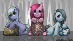 Size: 1920x1080 | Tagged: artist:saturnspace, cute, cuteamena, earth pony, family, female, filly, incorrect leg anatomy, limestone pie, looking at you, marble pie, photoshop, pie sisters, pie twins, pinkamena diane pie, pinkie pie, pinkie sad, pony, safe, siblings, sisters, stone, trio, twins, wallpaper