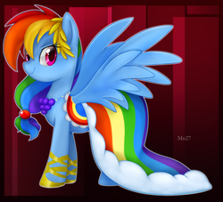 Size: 900x816 | Tagged: safe, artist:mn27, rainbow dash, pegasus, pony, the best night ever, abstract background, clothes, dress, female, gala dress, mare, solo