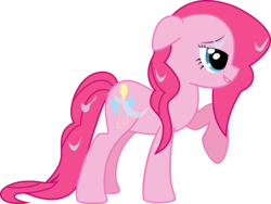 Size: 6666x5001 | Tagged: dead source, safe, artist:kittyhawk-contrail, pinkie pie, earth pony, pony, absurd resolution, adobe imageready, female, floppy ears, mare, profile, raised hoof, simple background, solo, transparent background, wet mane