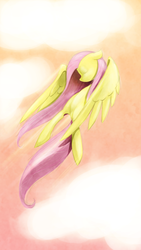 Size: 1080x1920 | Tagged: dead source, safe, artist:sir-dangereaux, fluttershy, pegasus, pony, eyes closed, female, flying, mare, photoshop, solo
