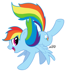 Size: 568x600 | Tagged: artist:empty-10, female, mare, pegasus, pony, rainbow dash, safe, simple background, solo, white background