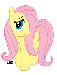 Size: 459x600 | Tagged: artist:empty-10, female, fluttershy, mare, pegasus, pony, safe, simple background, solo, white background