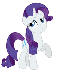 Size: 1200x1480 | Tagged: dead source, safe, artist:volmise, rarity, pony, unicorn, adobe imageready, annoyed, female, mare, photoshop, raised hoof, simple background, solo, transparent background, vector
