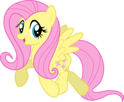 Size: 1000x823 | Tagged: dead source, safe, artist:volmise, fluttershy, pegasus, pony, adobe imageready, female, happy, mare, photoshop, simple background, solo, transparent background, vector