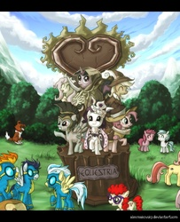 Size: 732x900 | Tagged: applejack, artist:alexmakovsky, chancellor puddinghead, clover the clever, commander hurricane, cotton cloudy, earth pony, female, filly, fluttershy, male, mane six, mare, misty fly, monument, pegasus, photoshop, pinkie pie, pony, princess platinum, private pansy, rainbow dash, rarity, ruby pinch, ruff (clothing), safe, smart cookie, soarin', spitfire, stallion, statue, twilight sparkle, twist, unicorn, winona, wonderbolts