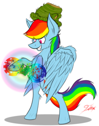 Size: 3170x4043 | Tagged: artist:ralek, hat, rainbow dash, safe