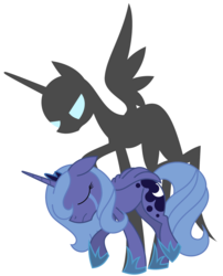 Size: 1084x1341 | Tagged: safe, artist:cuttycommando, princess luna, crying, female, s1 luna, sad, shadow, simple background, solo, transparent background, vector