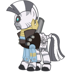 Size: 2500x2715 | Tagged: artist:avastindy, crossover, cyclops, demobot, demoman, high res, mann vs machine, mare vs machine, robot, safe, simple background, team fortress 2, transparent background, vector, zebra, zecora