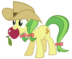 Size: 1743x1431 | Tagged: safe, artist:durpy, apple fritter, apple, apple family member, simple background, solo, transparent background, vector