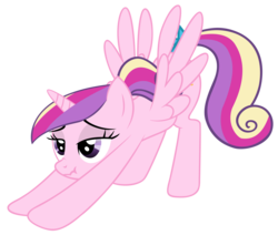 Size: 3500x2968   Tagged: source needed, safe, artist:hazama, artist:luckysmores, princess cadance, alicorn, pony, face down ass up, female, high res, iwtcird, meme, scrunchy face, simple background, solo, stretching, teen princess cadance, transparent background, younger