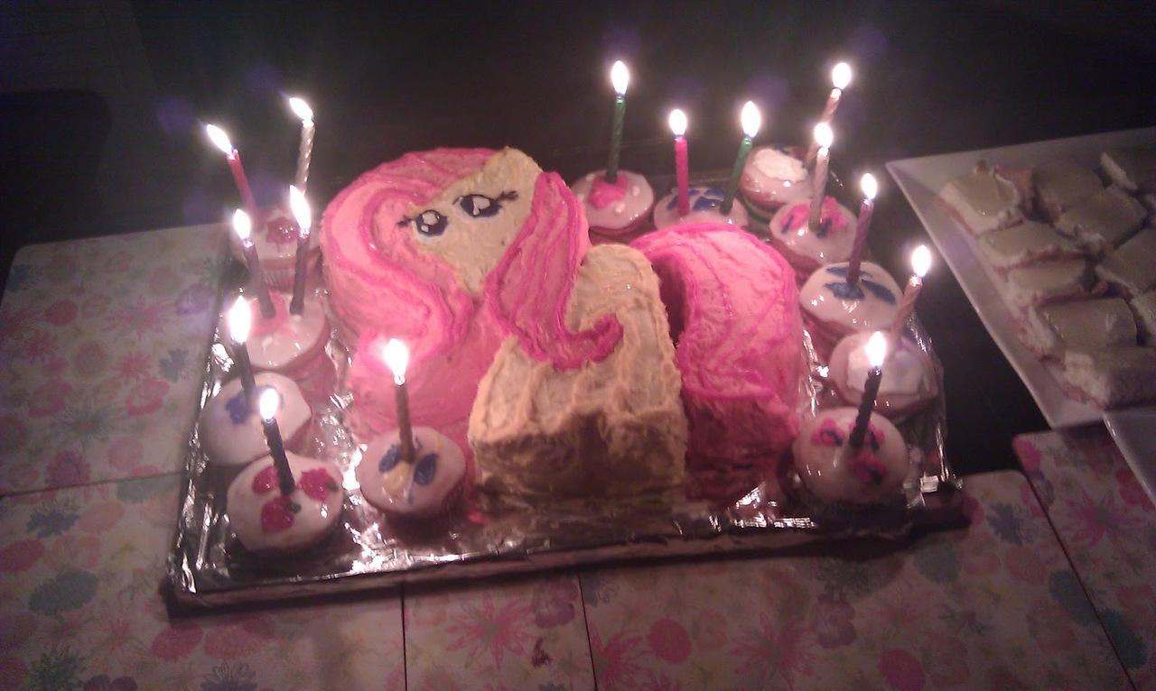 122671 birthday cake fluttershy food photo safe Derpibooru