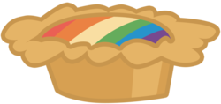 Size: 900x426 | Tagged: safe, artist:atnezau, family appreciation day, food, no pony, rainbow, resource, simple background, tart, transparent background, vector, zap apple
