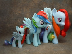 Size: 800x600 | Tagged: safe, rainbow dash, pony, brushable, irl, official, photo, size comparison, toy
