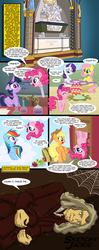 Size: 1500x3800 | Tagged: safe, artist:sketchyjackie, applejack, fluttershy, pinkie pie, rainbow dash, rarity, twilight sparkle, human, pony, comic, isaac newton, pinkie being pinkie, pinkie physics, sir isaac newton