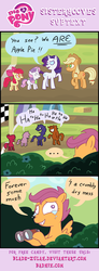 Size: 350x948 | Tagged: apple bloom, applejack, artist:blade-zulah, derp, orphan, rarity, safe, scootalone, scootaloo, sweetie belle, teary eyes