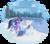 Size: 1340x1173 | Tagged: safe, artist:kittehkatbar, twilight sparkle, unicorn, blue prints, blueprint, boots, clothes, lake, magic, measuring, saddle, scarf, simple background, snow, snowfall, snowpony, solo, transparent background, unicorn twilight, water, winter
