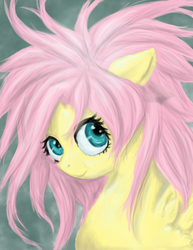 Size: 2550x3300 | Tagged: safe, artist:mistylake, fluttershy, alternate hairstyle, bad mane day, high res