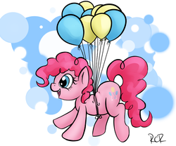 Size: 839x698 | Tagged: safe, artist:rawrcharlierawr, pinkie pie, balloon, then watch her balloons lift her up to the sky, tumblr