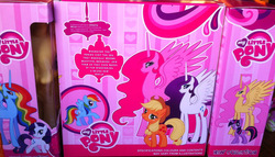 Size: 800x457 | Tagged: alicorn, alicornified, applejack, bootleg, fluttercorn, fluttershy, hilarious in hindsight, photo, pinkiecorn, pinkie pie, pony, race swap, rainbowcorn, rainbow dash, raricorn, rarity, safe, sweetie belle, toy, twilight sparkle, xk-class end-of-the-world scenario