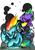 Size: 1712x2454 | Tagged: safe, artist:precosiouschild, rainbow dash, spike, dragon, pegasus, pony, dee jay, female, male