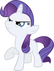 Size: 2577x3397   Tagged: safe, artist:kernelcobb, rarity, angry, blank flank, filly, scrunchy face
