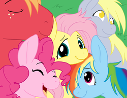 Size: 1210x935 | Tagged: dead source, safe, artist:cartoonlion, big macintosh, derpy hooves, fluttershy, pinkie pie, rainbow dash, earth pony, pony, bisexual, derpyshy, female, flutterdash, flutterdashpie, fluttermac, flutterpie, fluttershy gets all the mares, fluttershy gets all the stallions, lesbian, lesbian in front of boys, male, polyamory, shipping, stallion, straight