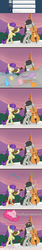 Size: 1000x5933 | Tagged: safe, artist:erthilo, octavia melody, pinkie pie, symphonia, symphony, earth pony, pony, ask octavia, ask, bipedal, bow (instrument), cello, cello bow, comic, eyes closed, female, mare, musical instrument, party, tumblr, violin, violin bow