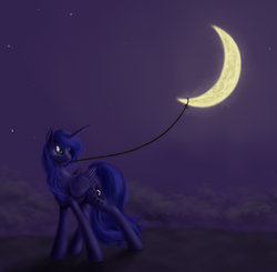 Size: 1000x978 | Tagged: artist:grayma1k, celestial mechanics, moon, night, princess luna, safe, solo, tangible heavenly object
