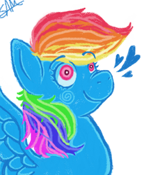 Size: 696x840 | Tagged: artist:samicats, ms paint, rainbow dash, safe, solo