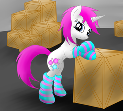 Size: 5000x4500   Tagged: safe, artist:jetwave, oc, oc only, oc:glimmerlight, pony, fallout equestria, fallout equestria: murky number seven, absurd resolution, clothes, socks, solo, striped socks