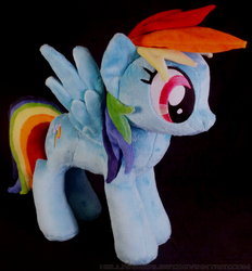 Size: 1704x1836 | Tagged: safe, artist:zizzaz, rainbow dash, irl, photo, plushie, solo