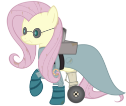 Size: 3230x2715 | Tagged: artist:avastindy, fluttershy, mare vs machine, medic, robot, safe, team fortress 2
