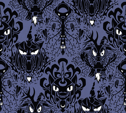 Size: 444x399 | Tagged: safe, artist:marbleyarns, discord, nightmare moon, queen chrysalis, antagonist, disney, the haunted mansion, tile