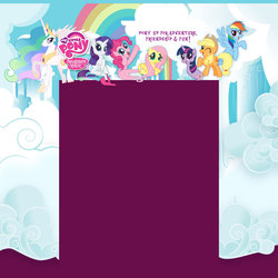 Size: 1600x1600 | Tagged: applejack, background, fluttershy, hubworld, mane six opening poses, my little pony logo, official, pinkie pie, princess celestia, quality, rainbow dash, rarity, safe, stock vector, twilight sparkle, twiworm