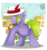 Size: 561x601 | Tagged: safe, artist:flow3r-child, spike, pegasus, pony, hat, male, ponified, ponified spike, species swap