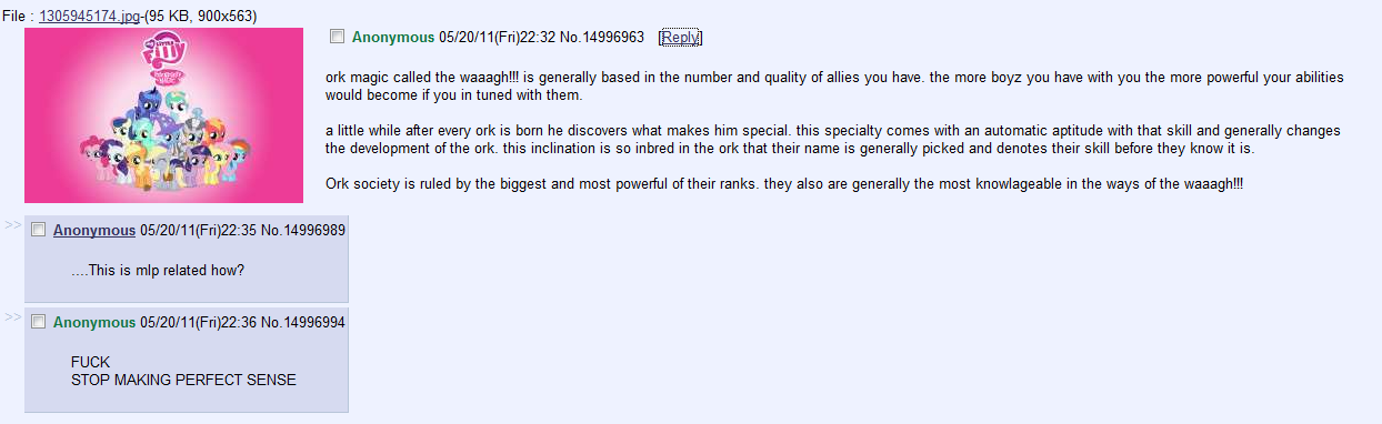 134167 - 4chan, crossover, insane troll logic, ork, safe, /tg