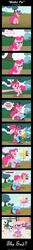 Size: 1024x7875 | Tagged: safe, artist:aleximusprime, pinkie pie, breaking the fourth wall, comic, comic sans, crossover, fourth wall, littlest pet shop, minka mark, party cannon