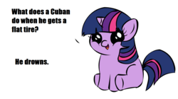 Size: 1194x668 | Tagged: safe, twilight sparkle, filly twilight telling an offensive joke, meme