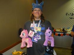 Size: 960x720 | Tagged: brony, funrise, glasses, irl, photo, pinkie pie, plushie, safe, twilight sparkle