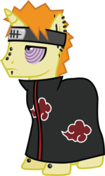 Size: 599x1008 | Tagged: safe, artist:ah-darnit, akatsuki, naruto, pain, pain (naruto), ponified, simple background, solo, transparent background, vector