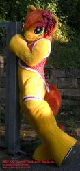 Size: 600x1286 | Tagged: safe, artist:atalonthedeer, oc, oc only, oc:canni soda, cosplay, fursuit, irl, photo