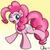 Size: 1749x1732 | Tagged: safe, artist:nekocrispy, pinkie pie, earth pony, pony, female, mare, open mouth, raised hoof, raised leg, smiling, solo
